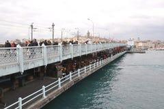 Ponte de Galata, Istambul fotografia de stock