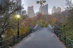 Ponte de Gapstow - Central Park imagens de stock