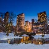 Ponte de Gapstow no inverno Fotografia de Stock Royalty Free