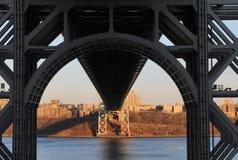 Ponte de George Washington de abaixo Foto de Stock Royalty Free