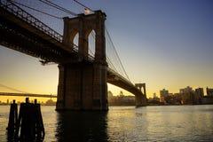 Ponte de George Washington no por do sol Imagem de Stock Royalty Free