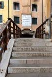 Ponte de Ghetto Nuovo in Venice, Italy. Ponte de Ghetto Nuovo, one of the three bridges leading to the jewish ghetto in Venice, Italy stock photo