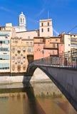 Ponte de Girona Fotografia de Stock