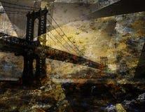 Ponte de Grunge Fotos de Stock Royalty Free