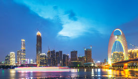 Ponte de Guangzhou Fotografia de Stock Royalty Free