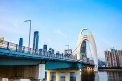 Ponte de Guangzhou Liede Fotografia de Stock