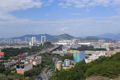 Ponte de Haicang da cidade amoy, porcelana Imagens de Stock Royalty Free