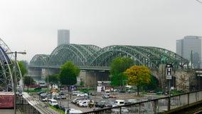 Ponte de Hohenzollern em Colónia Fotos de Stock