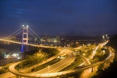 Ponte de Hong Kong Tsing miliampère Imagens de Stock Royalty Free