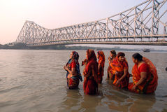 Ponte de Howrah foto de stock royalty free