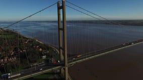 Ponte de Humber, única ponte de suspensão do período video estoque
