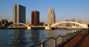 Ponte de Kachidoki, Tokyo, Japão Fotografia de Stock Royalty Free