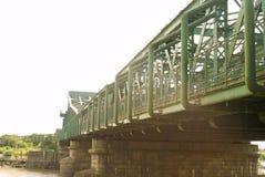 Ponte de Keadby que mede o rio Trent foto de stock royalty free