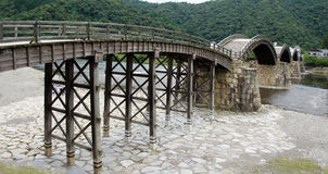 Ponte de Kintai em Iwakuni Fotografia de Stock