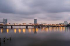Ponte de Krung Thon Imagens de Stock