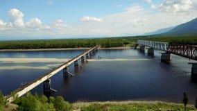 Ponte de Kuandinsky sobre o rio de Vitim filme
