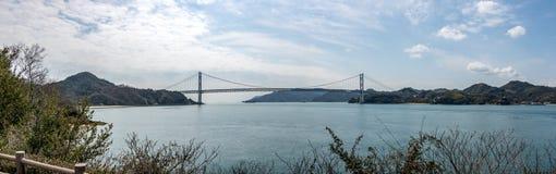 Ponte de Kurushima Kaikyo, Japão Foto de Stock Royalty Free