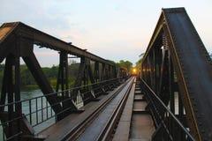 Ponte de Kwai do rio após a precipitação foto de stock royalty free
