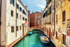 Ponte de L Anatomia och Rio de San Zan Degola Canal, Venedig Arkivfoton