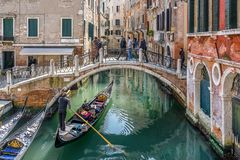 Ponte de la Cortesia in Venice Italy royalty free stock images