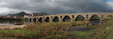 Ponte de Lima _Panoramiczny krajobraz Obrazy Royalty Free