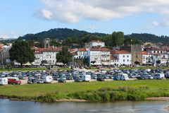 Ponte de Lima. PORTUGAL - AUGUST 3, 2014:  View on , a town in the Northern Minho region in Portugal Stock Photos