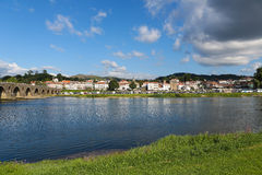 Ponte de Lima. PORTUGAL - AUGUST 3, 2014:  View on , a town in the Northern Minho region in Portugal Royalty Free Stock Photography