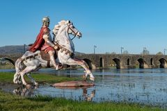 Statue of Roman soldier Stock Image