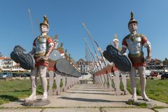 Statues of roman soldiers Stock Image