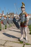 Statues of roman soldiers Stock Photography