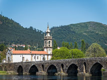 Roman Bridge in Ponte de Lima, Portugal royalty free stock image