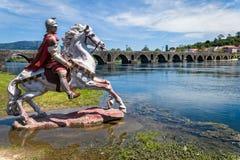 Roman Bridge in Ponte de Lima, Portugal Royalty Free Stock Image