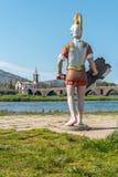 PONTE DE LIMA, PORTUGAL - VERS EN AVRIL 2018 : Statues du solénoïde romain photo stock