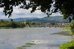 Ponte de Lima. View on Ponte de Lima, a town in the Northern Minho region in Portugal Stock Image