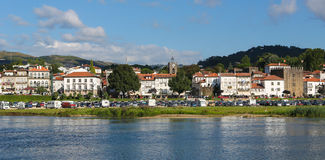 Ponte de Lima. View on Ponte de Lima, a town in the Northern Minho region in Portugal Royalty Free Stock Image