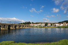 Ponte de Lima. View on Ponte de Lima, a town in the Northern Minho region in Portugal Stock Photo