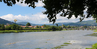Ponte de Lima. View on Ponte de Lima, a town in the Northern Minho region in Portugal Stock Photography
