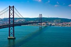 Ponte de Lisboa - abril 2ö, Portugal Fotografia de Stock