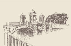 Ponte de Lomonosov, St Petersburg, Rússia Fotos de Stock Royalty Free