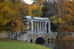 Ponte de mármore no parque de Catherine Imagem de Stock