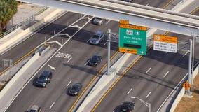 Ponte de Macarthur no vídeo de Miami 4k da rampa filme
