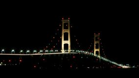 Ponte de Mackinac, cidade Michigan de Mackinaw Fotografia de Stock Royalty Free