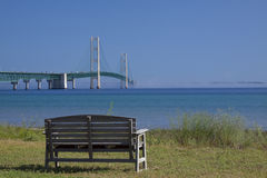 Ponte de Mackinac grande Foto de Stock Royalty Free