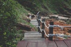 A ponte de madeira Foto de Stock Royalty Free