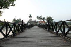 A ponte de madeira Foto de Stock