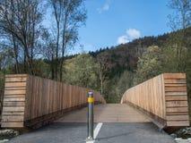 A ponte de madeira Fotografia de Stock