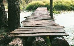 Ponte de madeira fotografia de stock