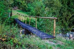 A ponte de madeira Fotos de Stock