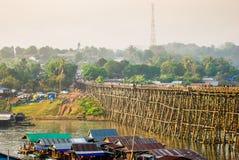 Ponte de madeira foto de stock