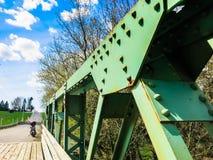 A ponte de madeira Imagem de Stock